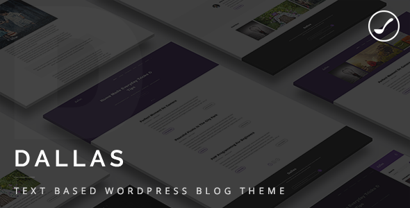 Dallas – Text Based Responsive WordPress Blog Theme