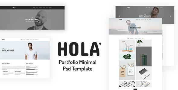 Hola Minimal Portfolio PSD Template