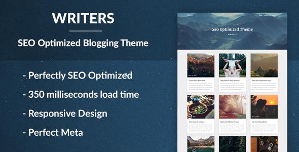 Writers – SEO Optimised Writing Theme