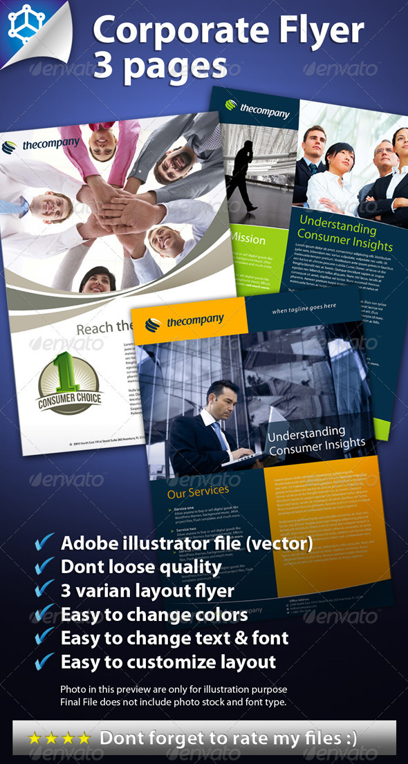 3 Amazing Corporate Flyers - Corporate Flyers