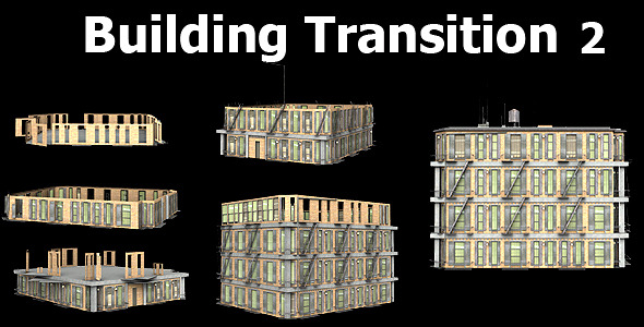 Building Transition 2 VideoHive Motion Graphic  Transition  3D Object 1968761