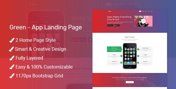 Green – App Landing Page
