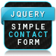 jQuery Simple Contact Form - CodeCanyon Item for Sale