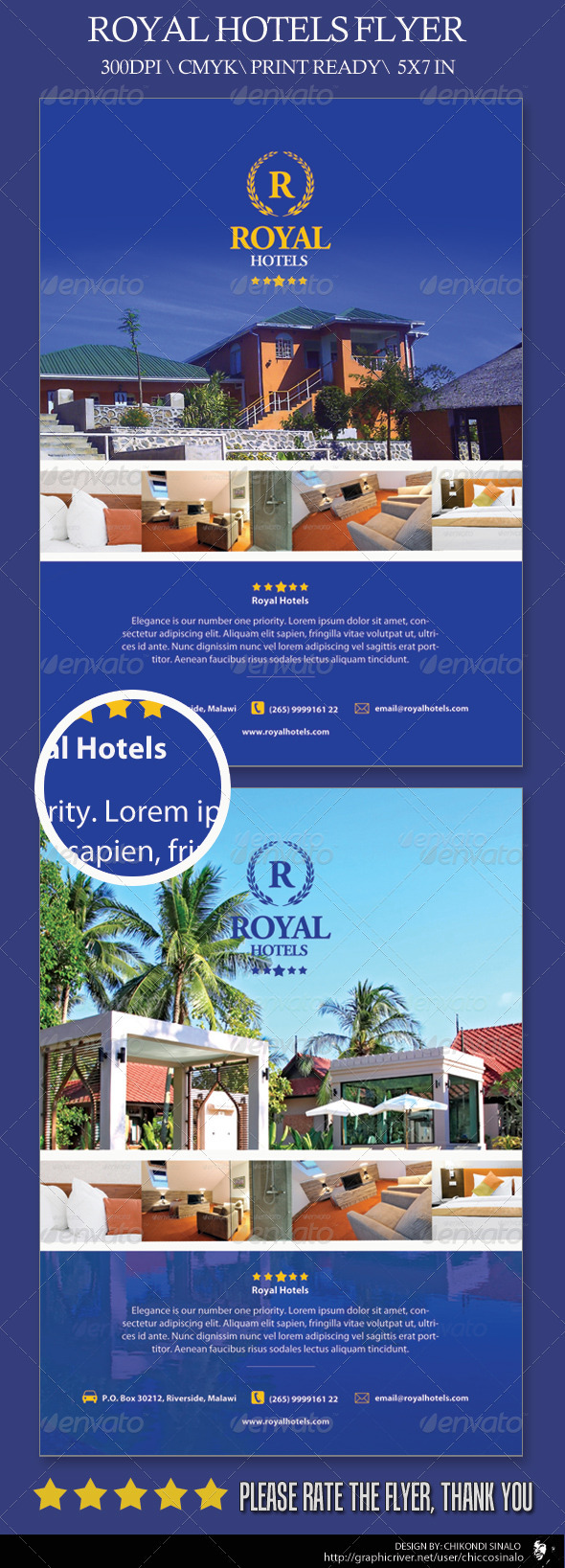 Royal Hotels Flyer Template - Corporate Flyers