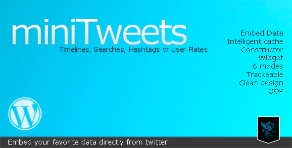 CodeCanyon miniTweets Embed Twitter Data 1970156