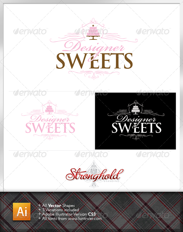 Designer Sweets Logo Template - Food Logo Templates