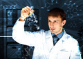 Young chemist working in laboratory - PhotoDune Item for Sale