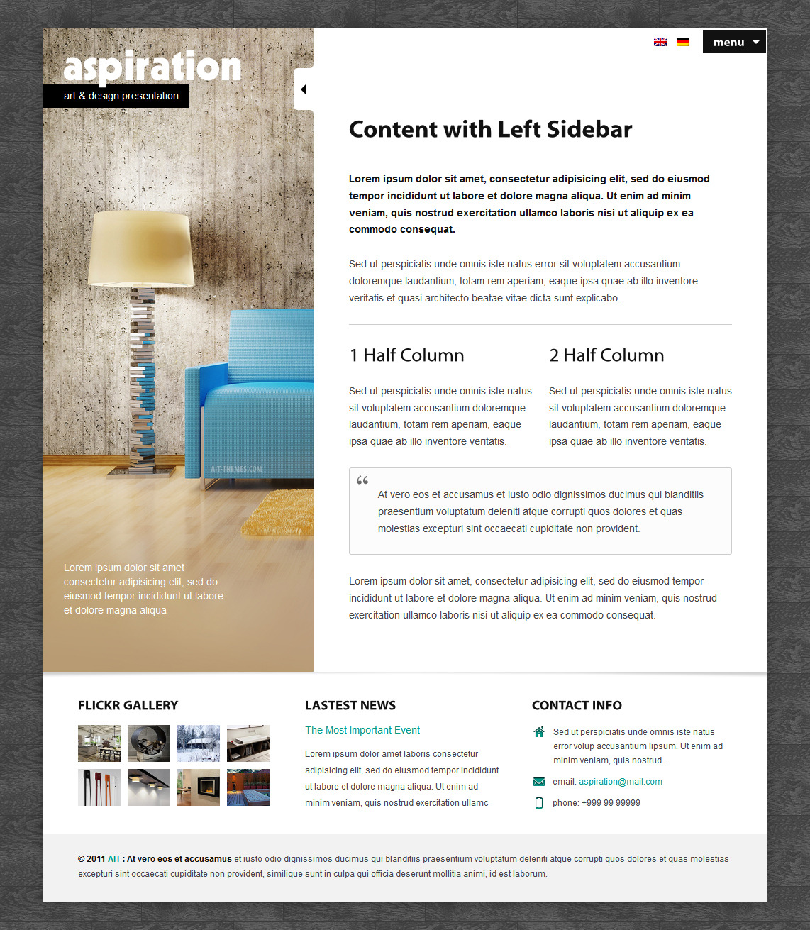 Aspiration Premium Corporate & Portfolio WP Theme