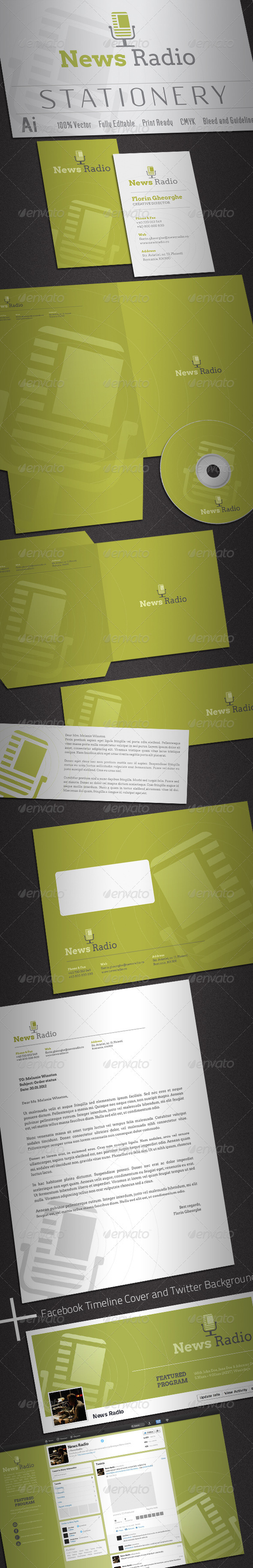 GraphicRiver News Radio Stationery 1980303