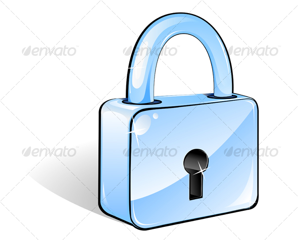 Glossy lock - Decorative Vectors