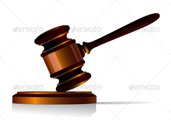 Gavel symbol - Objects Vectors