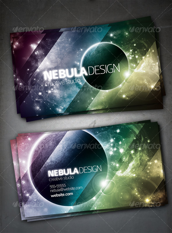 Nebula Design Card - Creative Business Cards