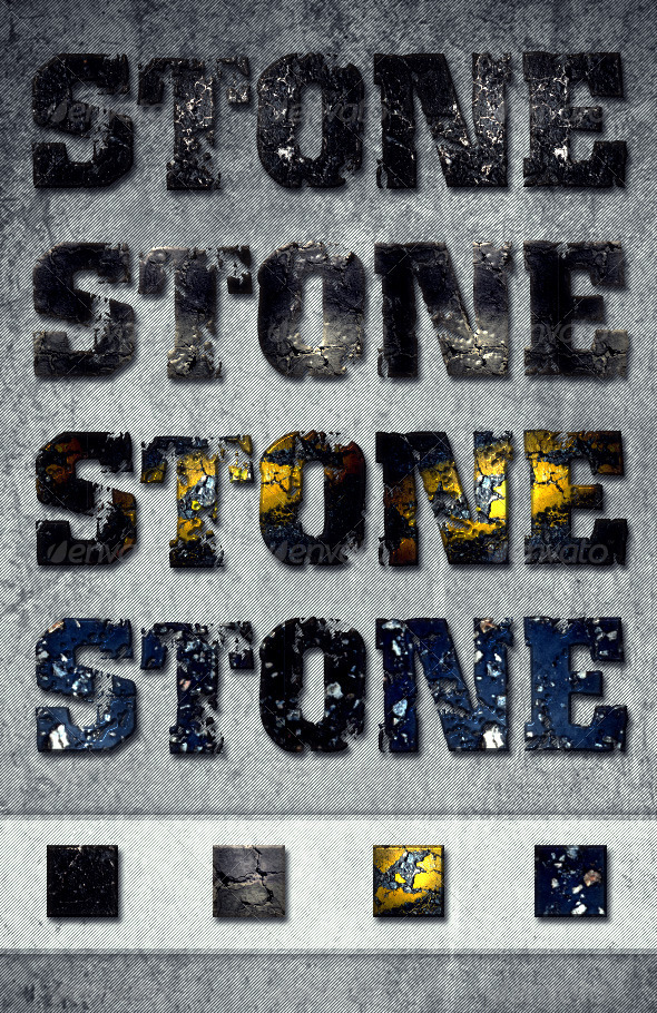 Stone Text Effects & Layer Styles - Text Effects Styles