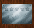 Top 5 Metal Sign - PhotoDune Item for Sale