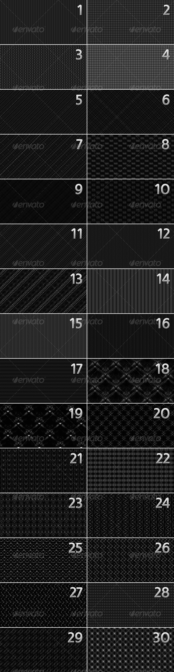 Abstract Seamless Patterns: Pack 3 - Text Effects Styles