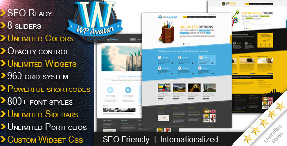 WP Avatar Wordpress Theme