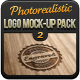 free logo template Photorealistic Logo Mock-Up Pack 2