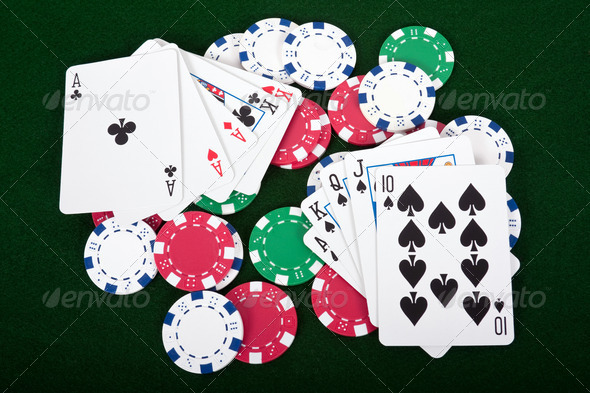 Playing Poker - Stock Photo - Images