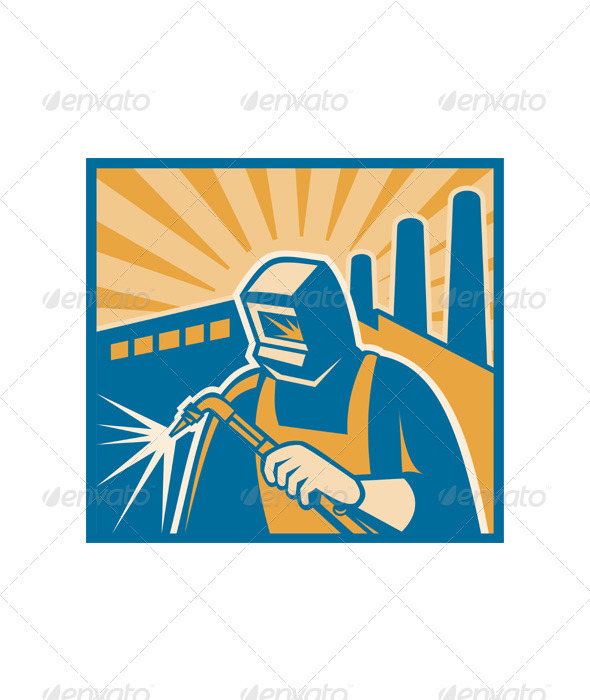 Welder Fabricator Welding Retro Style - People Characters