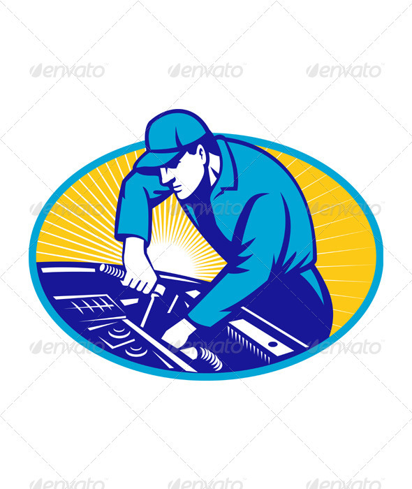 GraphicRiver Automotive Mechanic Repairman Repair Car 1986651