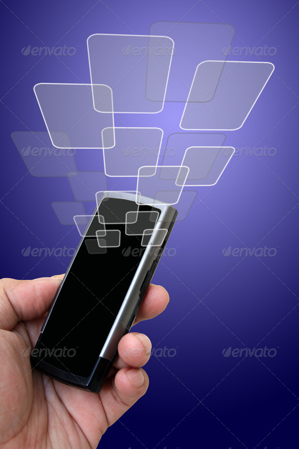 Mobile phone in the hand - Stock Photo - Images