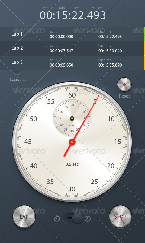 Stopwatch & Timer App Interface