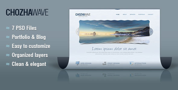 Chozha Wave Web Template for Design Studios