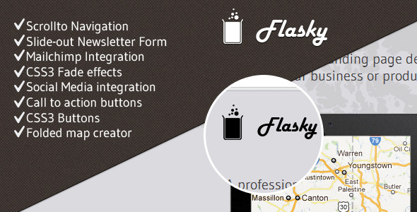 Flasky - Slider-Controlled Landing Page