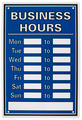 Isolated objects: business hours sign - PhotoDune Item for Sale