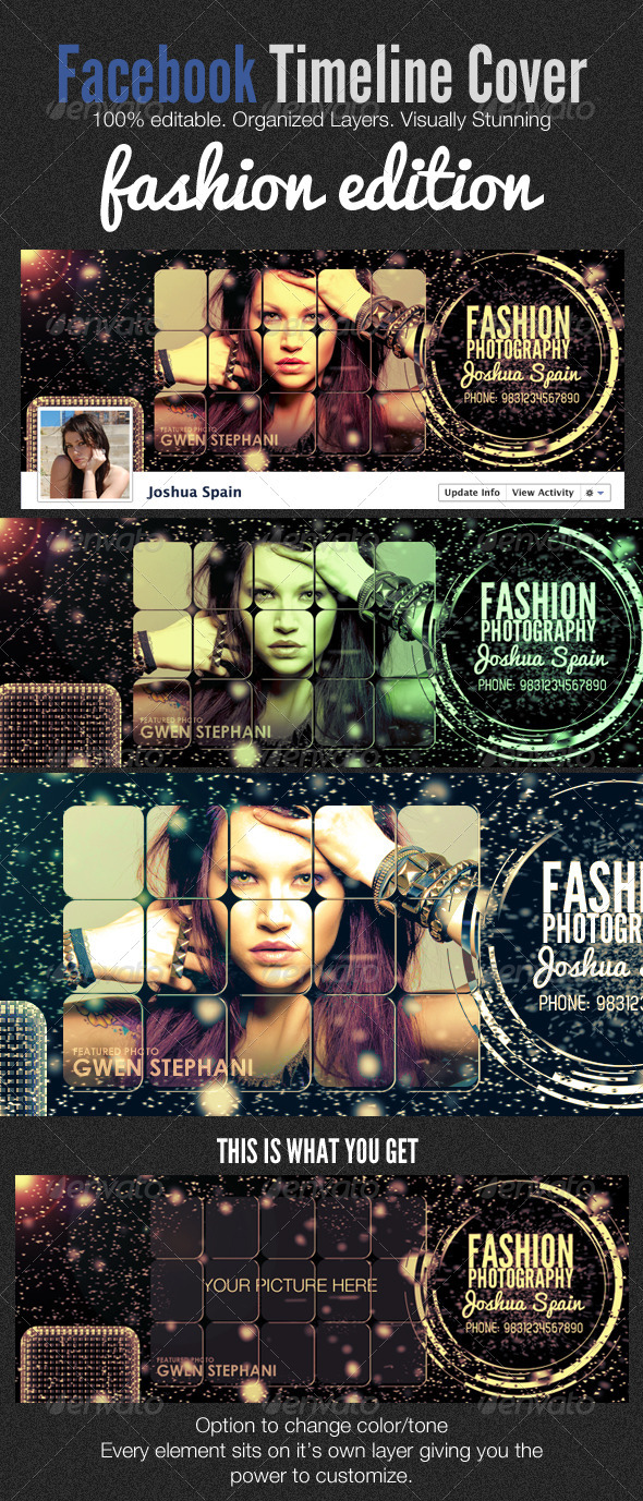 GraphicRiver Facebook Timeline Covers Fashion Edition 1991983