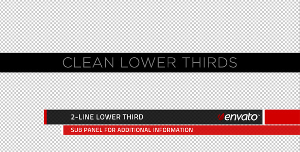 After Effects Project - VideoHive Clean Lower Thirds 231558