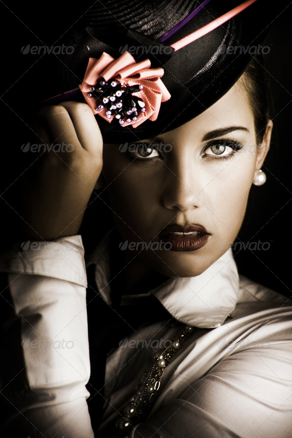 Face Of Dark Fashion - Stock Photo - Images