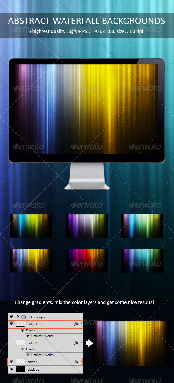 GraphicRiver Abstract Waterfall Backgrounds 231682