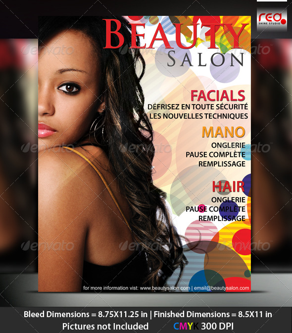 Graphic River Beauty Salon Poster/Flyer Template Print Templates -  Flyers  Events  Clubs & Parties 231690