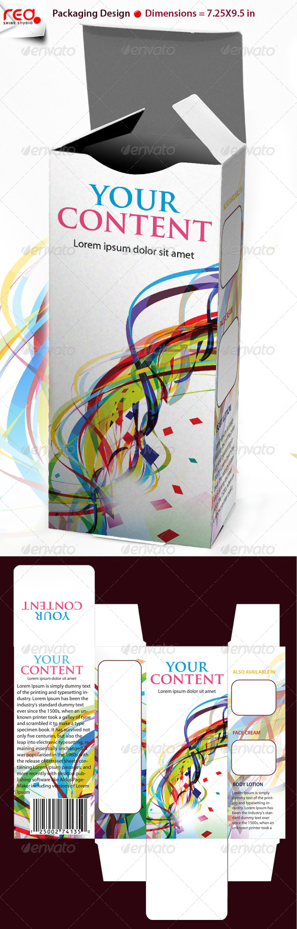 GraphicRiver 3D Box Template Design 231710