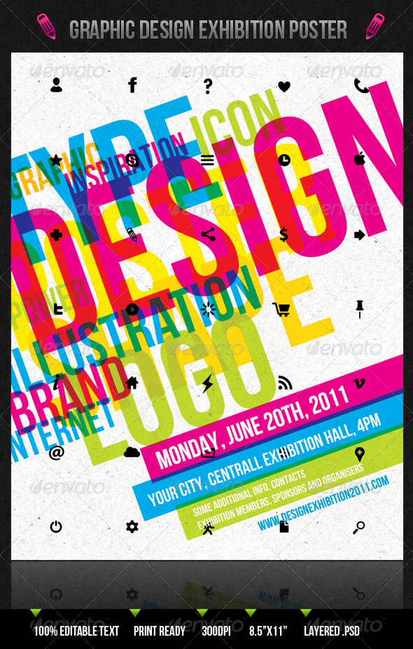 Graphic Design Exhibition Poster/Flyer - Clubs & Parties Events