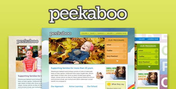 Pekaboo - Children Theme HTML Template - Overview