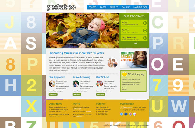 Pekaboo - Children Theme HTML Template - Home page - style 2