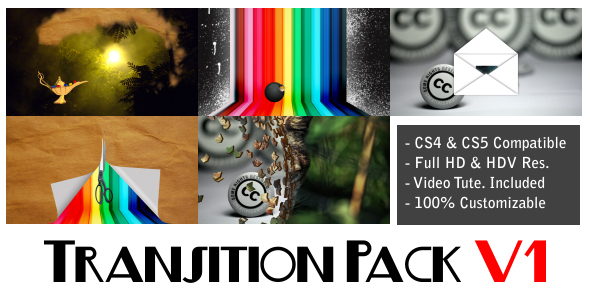 After Effects Project - VideoHive Transition Pack V1 231859