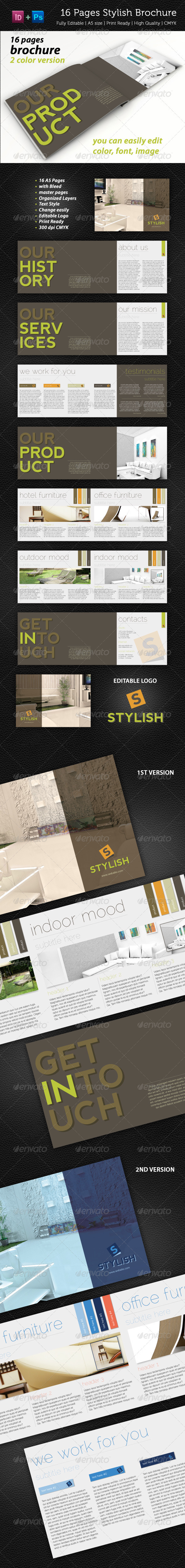 GraphicRiver 16 Pages Stylish Brochure 1994215