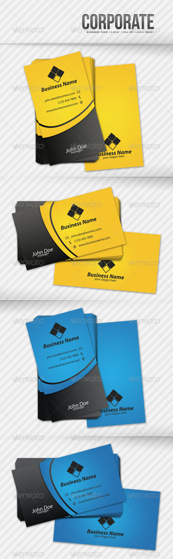 GraphicRiver Corporate Business Card 107112