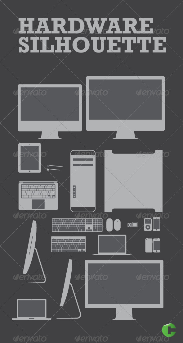 GraphicRiver Hardware Silhouttes 1995307