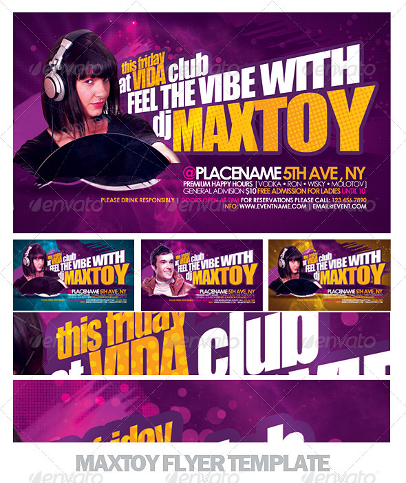 Maxtoy Dance Flyer Template - Clubs & Parties Events