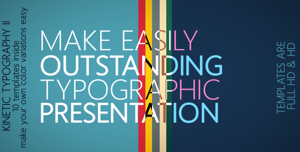 VideoHive Kinetic Typography II 1995372