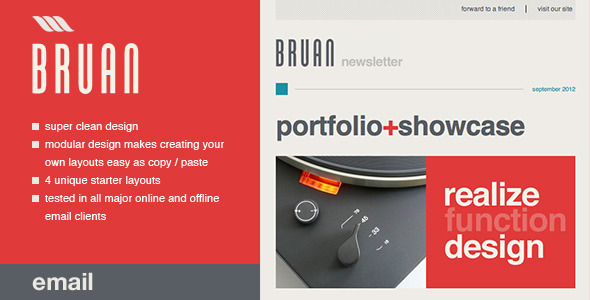 ThemeForest Bruan Email Template 1995377