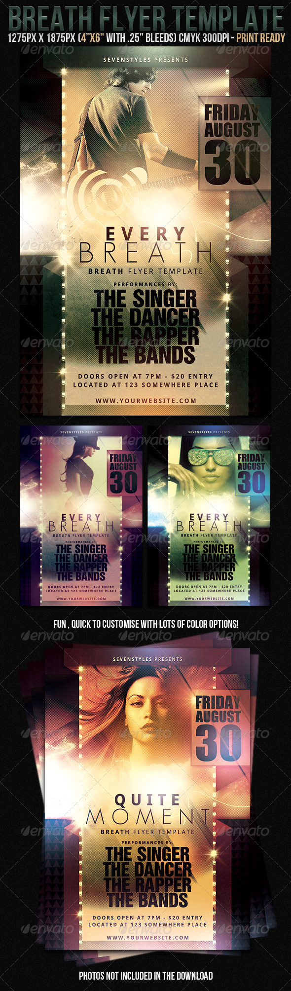 *Breath Flyer Template* - Clubs & Parties Events