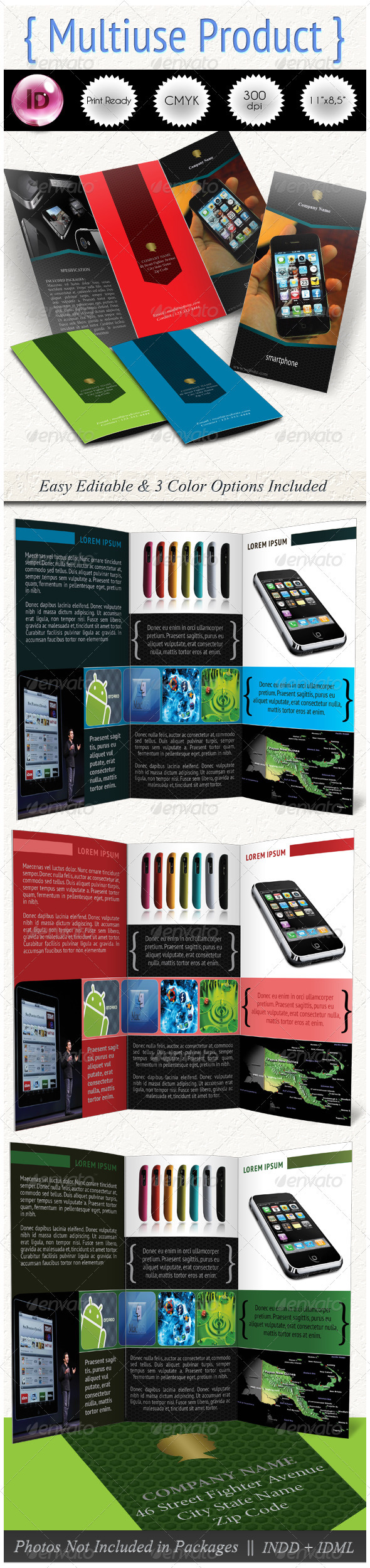 GraphicRiver Multiuse Product Trifold 978181