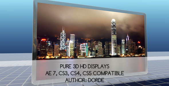 After Effects Project - VideoHive PURE 3D HD DISPLAYS 68765