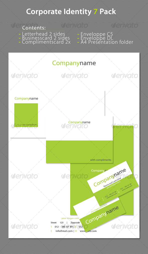 GraphicRiver Corporate Identity 7 Pack 70725