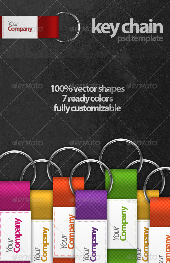 Key Chain PSD Template - Miscellaneous Graphics